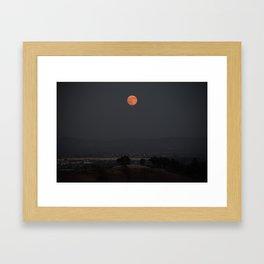 Dawn of the Supermoon Framed Art Print