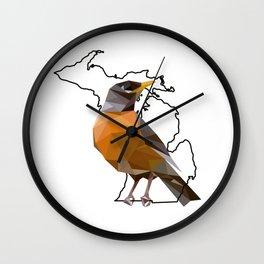 Michigan – American Robin Wall Clock