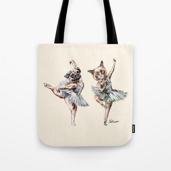 Hipster Ballerinas - Dog Cat Dancers Tote Bag