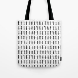 Black Ink Woodstock Pattern on White Tote Bag