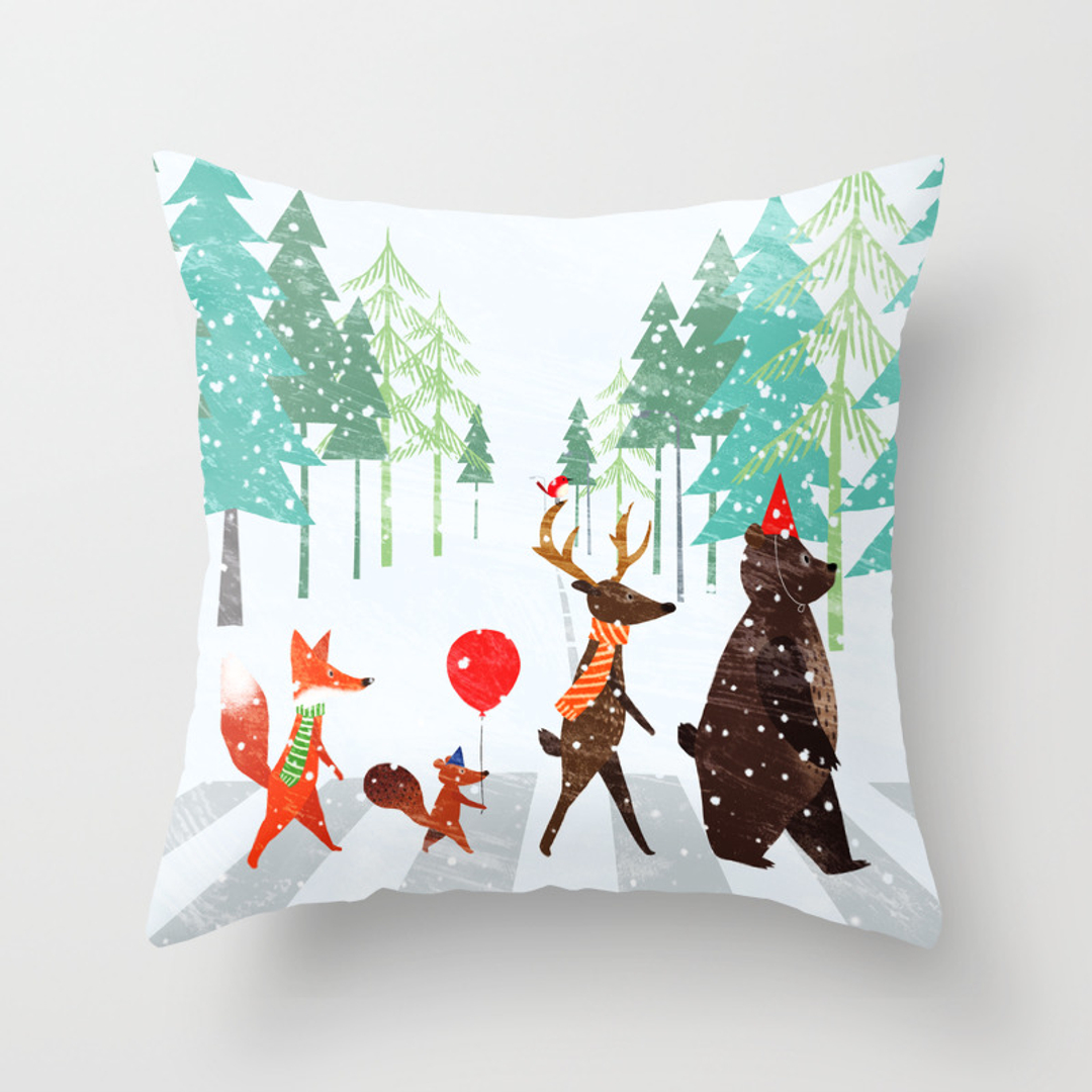 Schubert Wanddesign animals and nature throw pillows society6