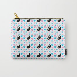 Tao, hearts and stars-sky,hope,spangled,love,romantic,tao,taoism,yin,yang,romantism,pointed Carry-All Pouch