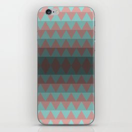 Green and Red Stripes  iPhone Skin