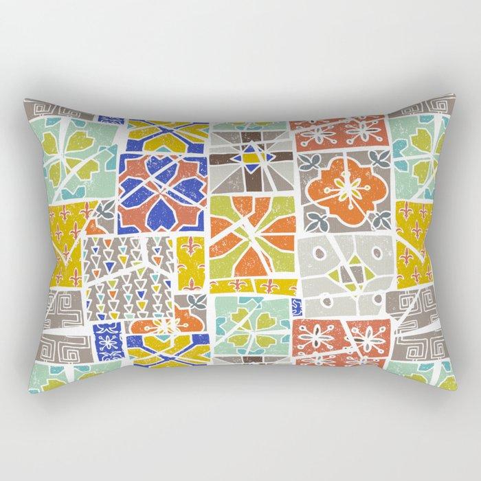 Barcelona tiles Rectangular Pillow