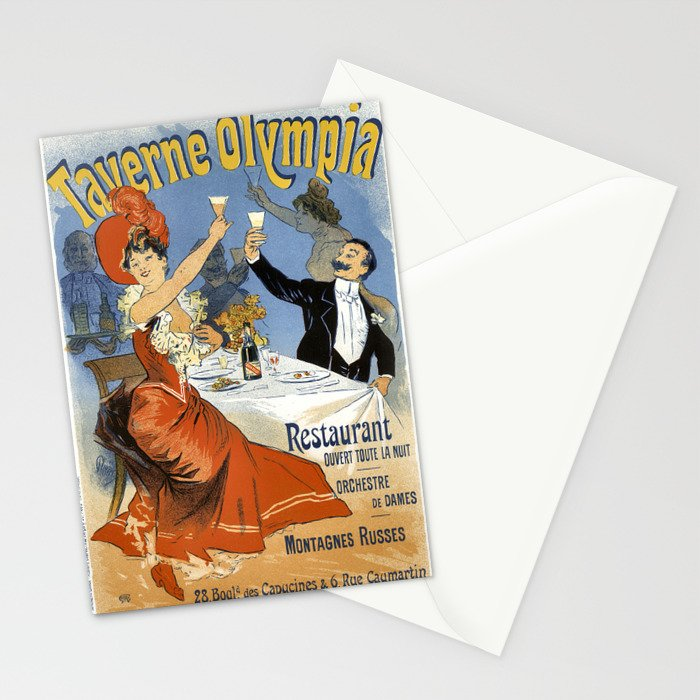 Vintage French Advertising Taverne Olympia Celebration Stationery Cards