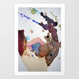 Mapping Air Art Print