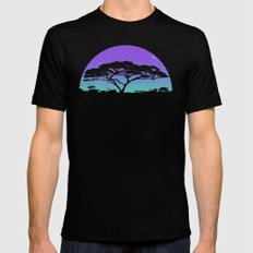 long exposure LARGE Black Mens Fitted Tee