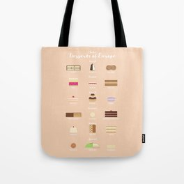 (Some) Desserts of Europe Tote Bag