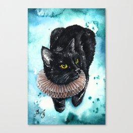 An Elegant Ruff Canvas Print