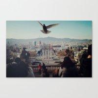 barcelona Canvas Prints featuring Barcelona by Alfredo Lietor