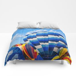 Vibrant Hot Air Balloons Comforters