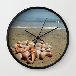 Shells on the Beach Wall Clock
