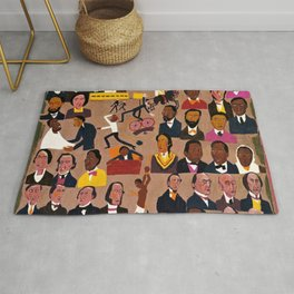 African American Masterpiece 'Underground Railroad' by William H. Johnson Rug