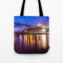 Porto at night Portugal Tote Bag