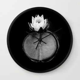 Witching Waterlily Wall Clock