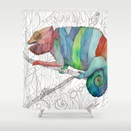 Chameleon Fail Shower Curtain