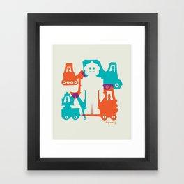 Friendlier Robots Framed Art Print