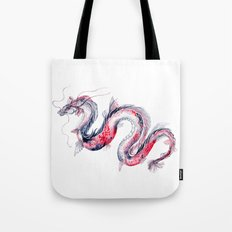 Koi Dragon Tote Bag