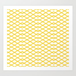 Yellow Diamonds in the Sky Art Print