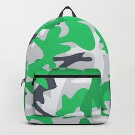 Camouflage military background. Backpack