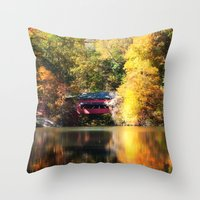 serenity Throw Pillows featuring Serenity by Captive Images Photography