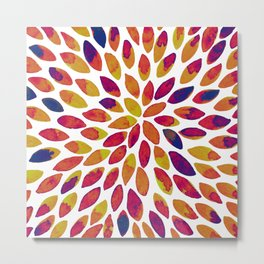 Watercolor brush strokes - multicolor Metal Print