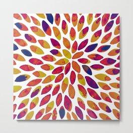 Watercolor brush strokes - multicolor Metal Print