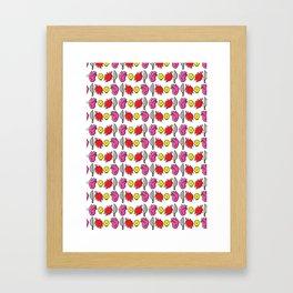 Horror Pattern #1 Framed Art Print