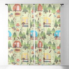 Caravan Campground Vacation Sheer Curtain