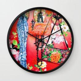 Chinoiserie Love: The Romance Wall Clock