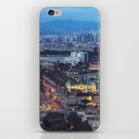 barcelona iPhone & iPod Skins featuring Barcelona by AnnaGo