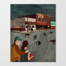 City Of Dogs Canvas Print