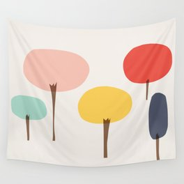 Glass Trees Wall Tapestry