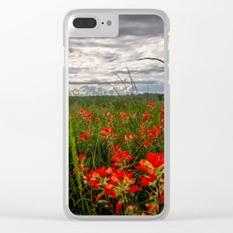Brighten the Day - Indian Paintbrush Wildflowers in Eastern Oklahoma Clear iPhone Case