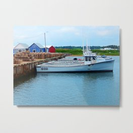 Lobster Boats and Traps Metal Print
