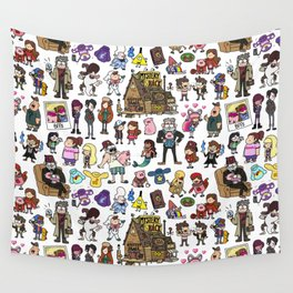 Cute Gravity Falls Doodle Wall Tapestry