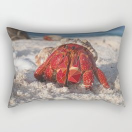 Hermit Crab By The Shore Rectangular Pillow