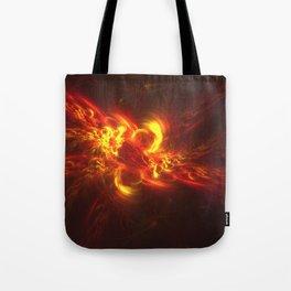 Fractal Flame Explosion Tote Bag