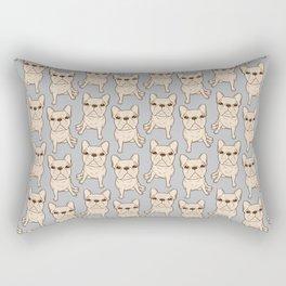 Cream French Bulldog Rectangular Pillow