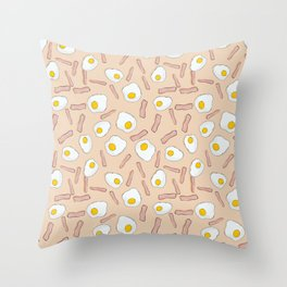 Eggs and bacon Throw Pillow