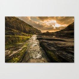Trebarwith strand sunset Canvas Print