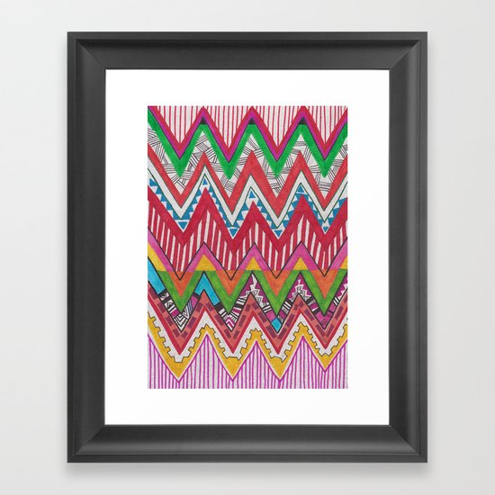 Peruvian Waves Framed Art Print