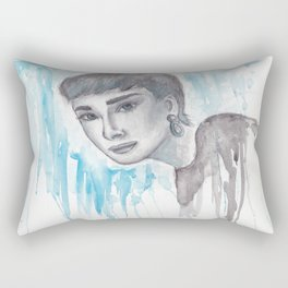 Audrey Watercolor Rectangular Pillow