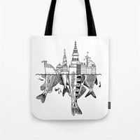 copenhagen Tote Bags featuring Copenhagen by CAB Architects