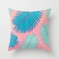 palm Throw Pillows featuring Palm by haytay