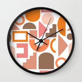 Shapes in Retro Hues Wall Clock