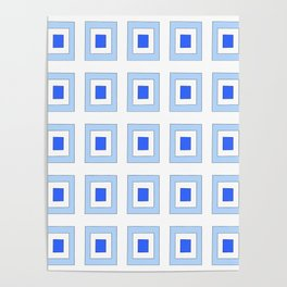 Tribute to mondrian 5- piet,geomtric,geomtrical,abstraction,de  stijl, composition. Poster