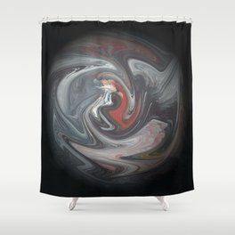Abstract 132 Shower Curtain