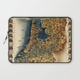 Map of Holland Laptop Sleeve