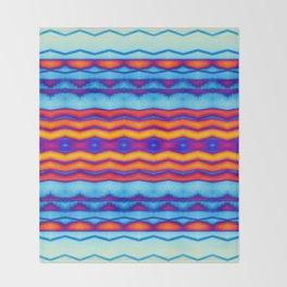 Blue OJ Chill Trip Vibe Throw Blanket